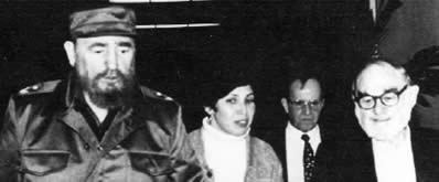 Fidel Castro, Juana Vera, Victor Rabinowitz and the author in Havana.