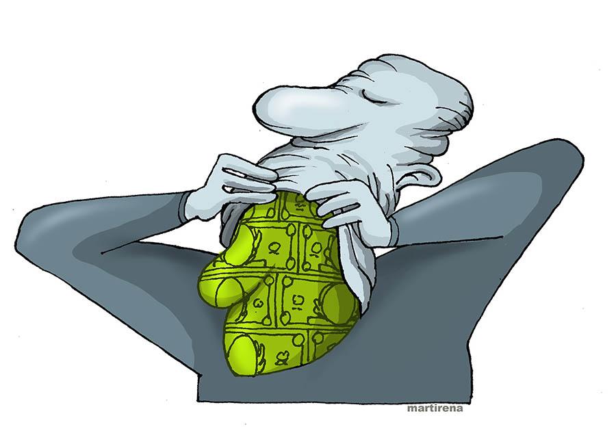 Worse than the emergence of new rich, could be masked revivals of the past.  --- Peor que la aparición de nuevos ricos, pudieran ser resurgimientos enmascarados de rezagos del pasado. (Alfredo Martirena Hernández / Cubahora)